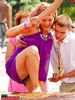 Up skirt adult scenes shot in public