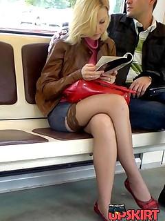 pantyhose wild upskirt  photo
