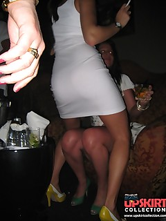Party girls upskirts. They're drunk and shameless